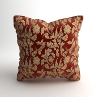 Satin Throw Pillow 2 3D Model