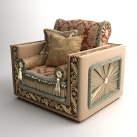 Ornate Armchair Bacci Stile 450 3D Model