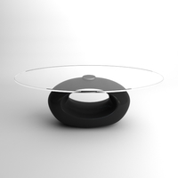 Contemporary Glass Top Coffee Table 3D Model