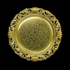 Decorative Gold Plate Pino Vismara 3D Model