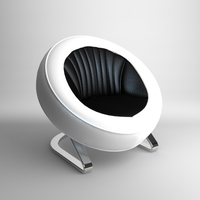 Contemporary Round Chair 3D Model