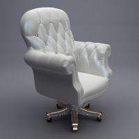 Luxury Office Armchair 3D Model