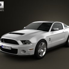 Ford Mustang Shelby GT500 2012 3D Model