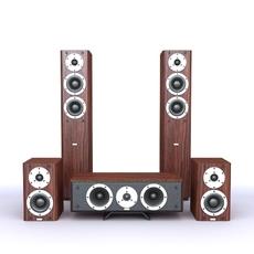 Audio Equipment Set 3D Model