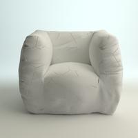 Designer Italian Armchair 3D Model