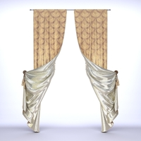 Classical Curtains - 2 3D Model