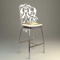 Ornate Bar Stool 3D Model