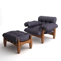 Armchair & Ottoman Mole by ClassiCon 3D Model