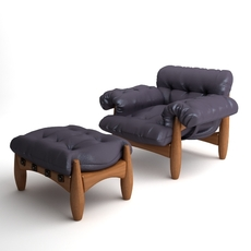 Armchair & Ottoman Mole by ClassiCon 3D Model