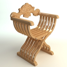 Savonarola X Chair Photorealistic 3D Model