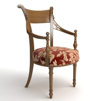 Photorealistic Antique Armchair 3D Model