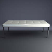 Contemporary Bench 3D Model