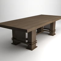 Frank Lloyd Wright Husser Table 3D Model