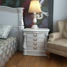 Baroque Nightstand Curbstone 3D Model