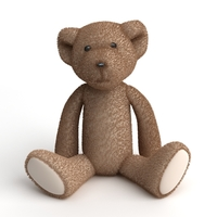 Stuffed Toy Teddy Bear 3D Model