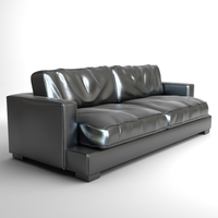 Classic Leather Sofa Photorealistic 3D Model