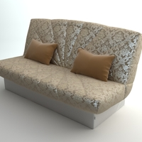 Armless Sofa Photorealistic 3D Model