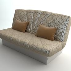Armless Sofa Photorealistic 3D Model