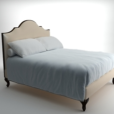 Traditional Style Bed 3D Model