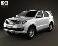 Toyota Fortuner 2012 3D Model
