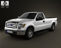 Ford F-150 XLT RegularCab 65ftBox 2011 3D Model