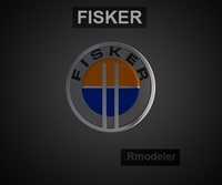 Fisker 3d Logo 3D Model