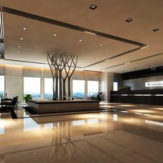 Lobby Reception Area 05 3D Model