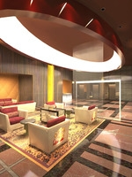 Lobby Reception Area 07 3D Model