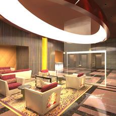 Lobby Reception Area 07 3D Model