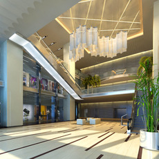 Lobby Reception Area 08 3D Model