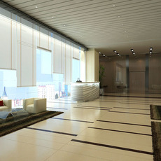 Lobby Reception Area 012 3D Model