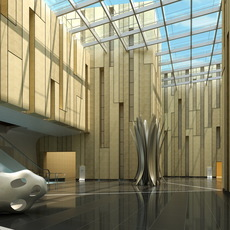 Lobby Reception Area 17 3D Model