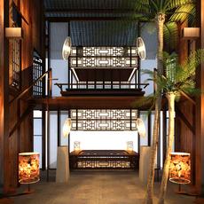 Hotel Lobby 022 3D Model