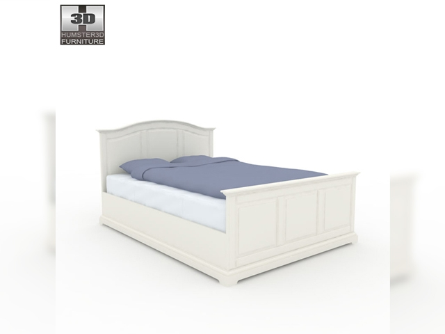 ikea birkeland bed 3d model. Black Bedroom Furniture Sets. Home Design Ideas