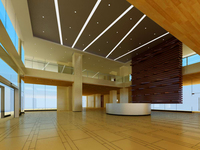 Lobby space 30 3D Model