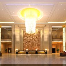 Hotel Lobby  Area 45 3D Model
