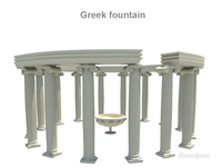 Greek fountain 3D Model