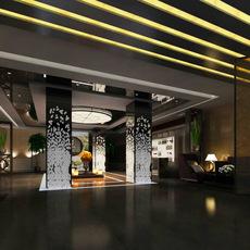 Lobby space 52 3D Model