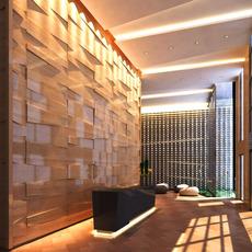 Hotel Lobby  Area 55 3D Model