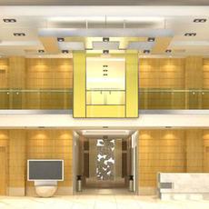 Hotel Lobby  Area 68 3D Model