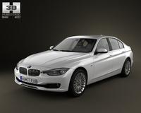 BMW 3 series Sedan 2012 3D Model