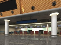 Lobby space 93 3D Model