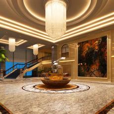 Lobby space 124 3D Model