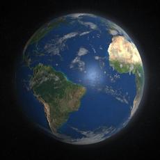 3D Planet Earth with complete textures for free for Maya 1.0.0
