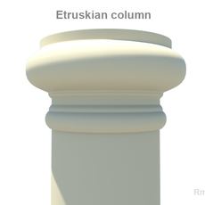 Etruskian column 3D Model