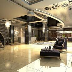 Lobby space 145 3D Model