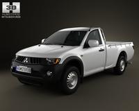 Mitsubishi L200 Triton SingleCab 2011 3D Model
