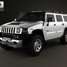 Hummer H2 2009 3D Model