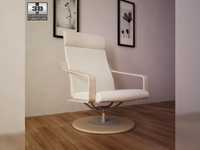 IKEA POANG Swivel armchair 3D Model