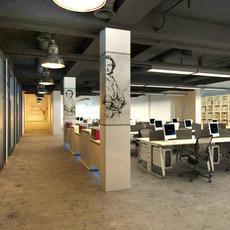 Office space 001 3D Model